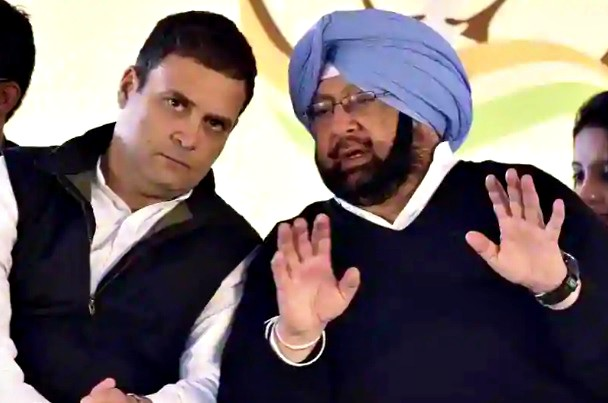 rahul gandhi with cm capt amarinder singh