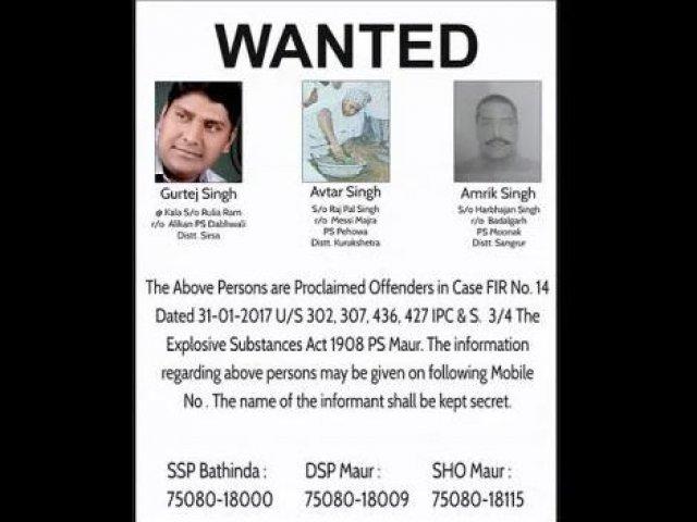 maur bomb blast accused posters