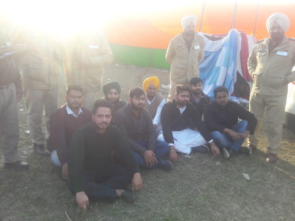 protest against modi in gurdaspur rally