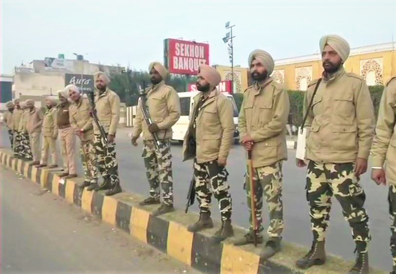 security beefed up in punjab and haryana