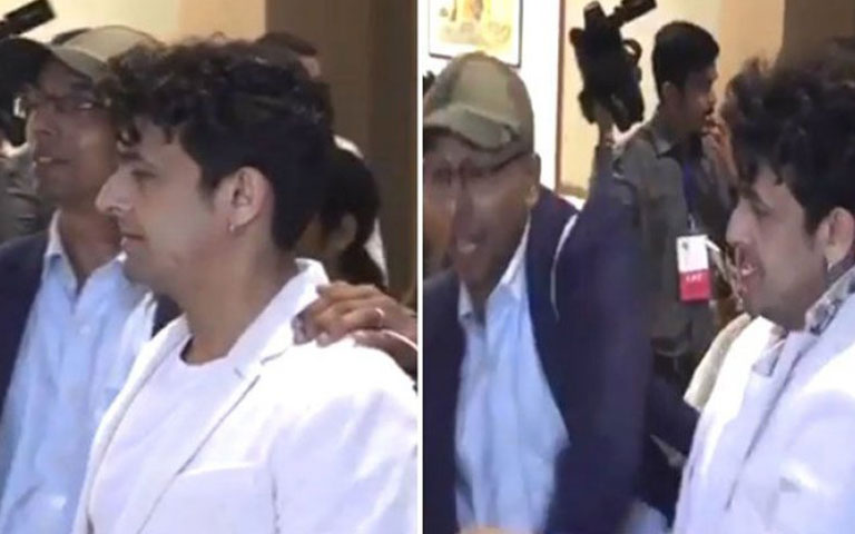 sonu nigam viral video with fan