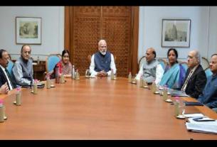 pm modi calls ccs meeting at home