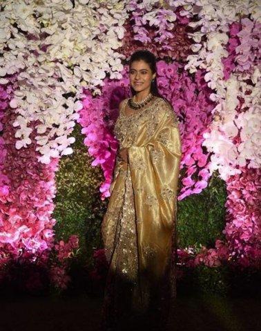 kajol at akash ambani marriage party