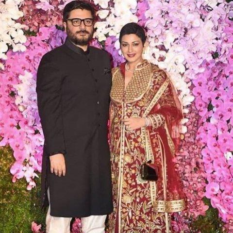 sonali bendre at akash ambani marriage party
