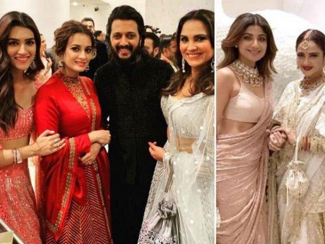 bollywood celebrities at akash ambani marriage party