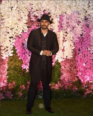 arjun kapoor at akash ambani marriage party