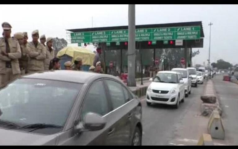 ladhowal ludhiana toll plaza shut by congress