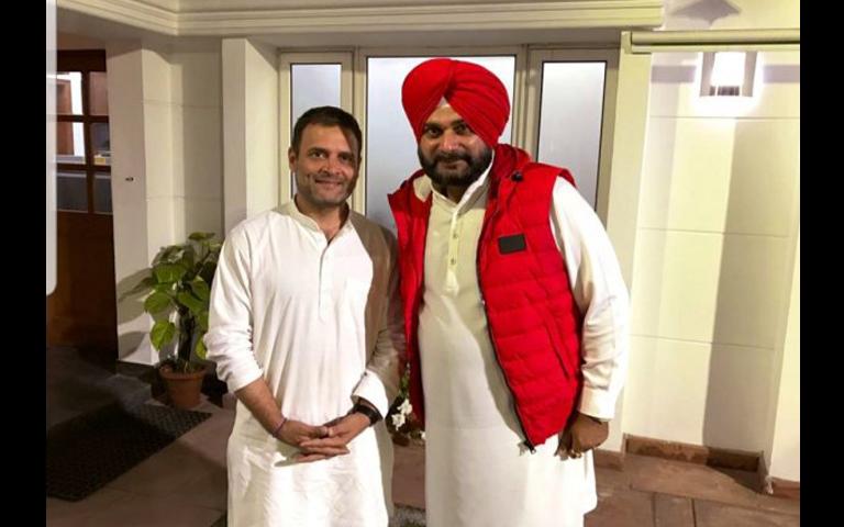 rahul gandhi and navjot sidhu