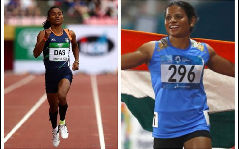 hima das and dutee chand