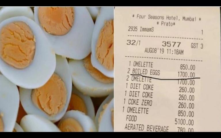 2 boiled egg cost in mumbai hotel