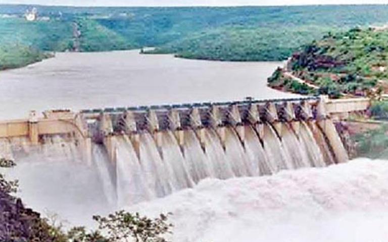 bhakra dam open flood gates