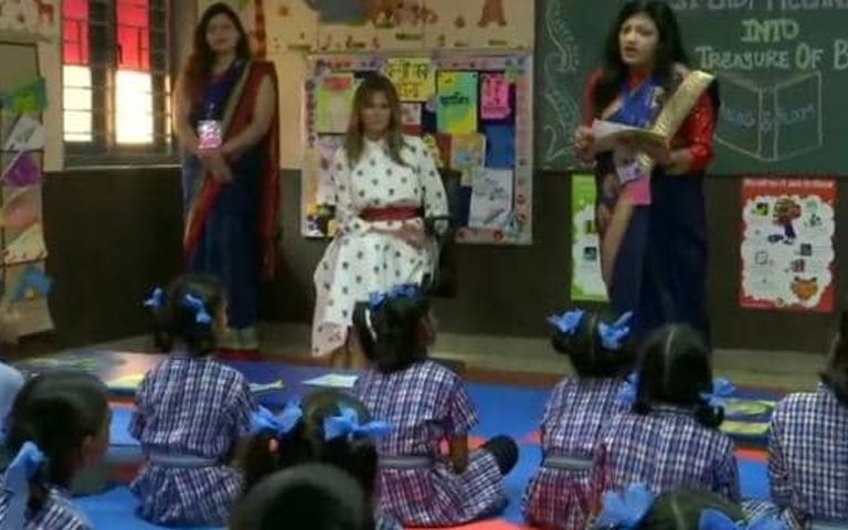 melania-trump-visit-happiness-school-delhi