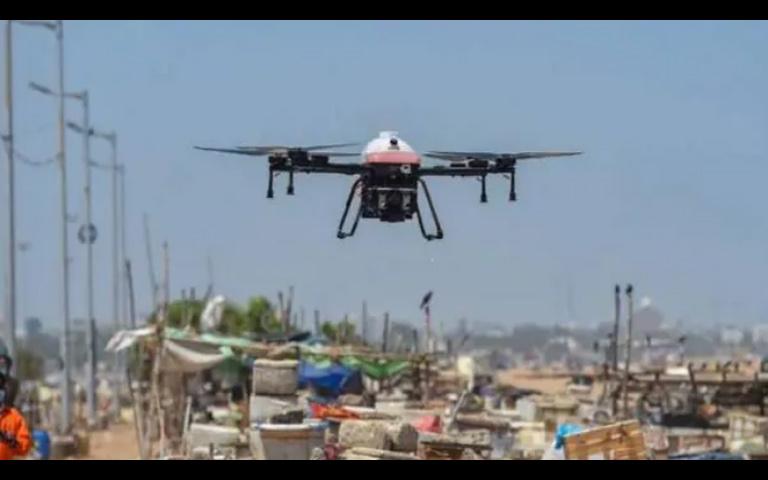Police using Drones in Punjab During Lockdown Period