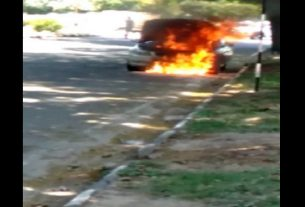 fire-in-bmw-sector-28-in-chandigarh