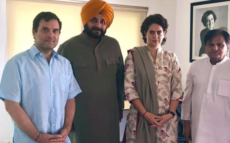 Congress after discussion of navjot sidhu joining the Aap
