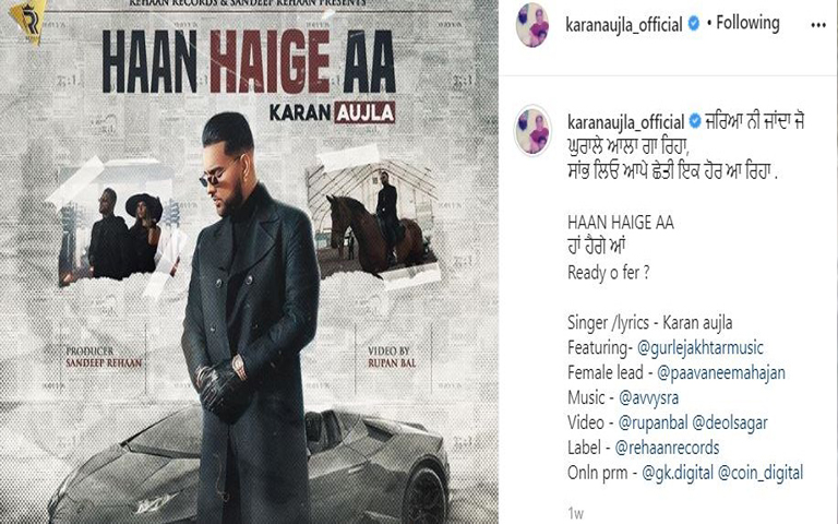 karan-aujla-new-song-haan-haige-aa-teaser-out