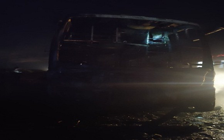 five-people-died-in-a-bus-fire-accident-in-karnataka