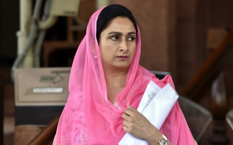 Centre Govt approved Harsimrat Kaur Badal resignation