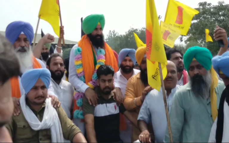 Simarjit Bains Bike Rally to Delhi Parliament