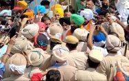 Simarjit Bains was taken into Custody during his protest