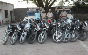 Punjab Police arrested inter-state vehicle thieves gang