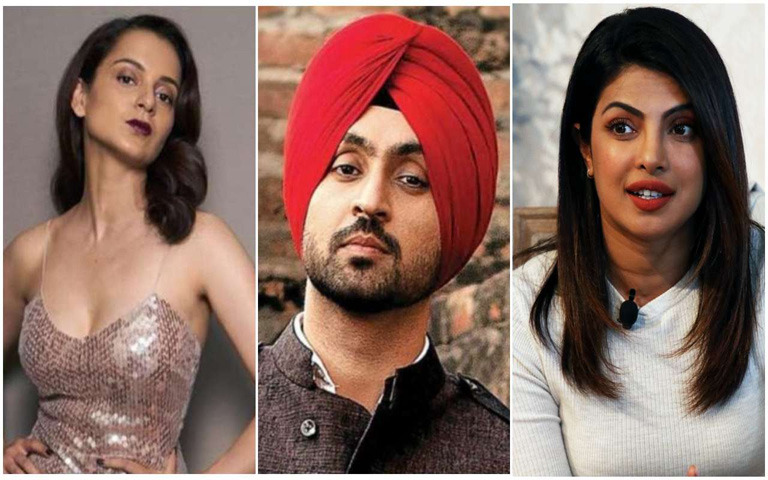 Kangana-surrounds-Diljit-and-Priyanka-over-violence-in-tractor-parade,-congratulations