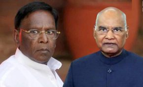 President-ramnath-kovind-accepts-resignation-of-puducherry-chief-minister-narayanasamy