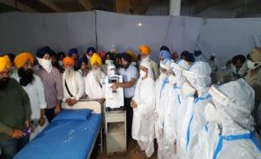 Shriomani-akali-dal-sets-up-temporary-center-for-coronavirus-patients-at-gurudwara-shri-manji-sahib-alamgir