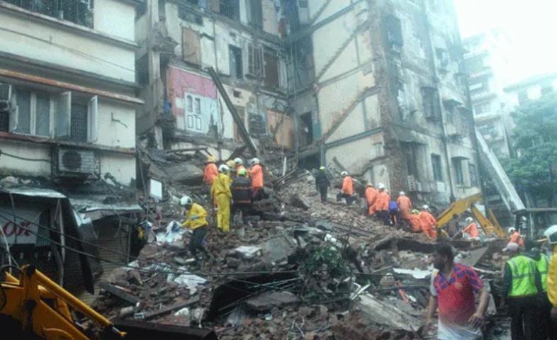 four-storey building collapses