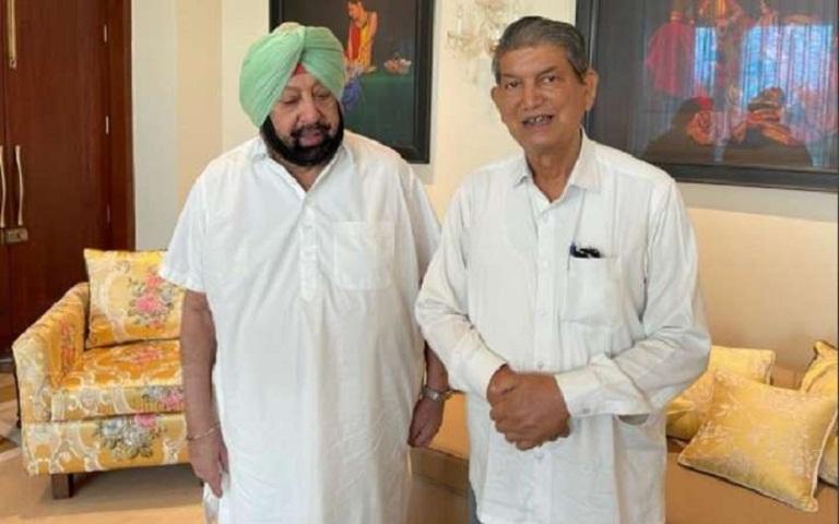 Harish Rawat and Captain