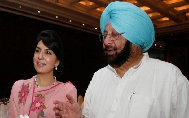 Aroosa Alam and Amarinder_Singh